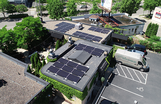 Rooftop Commercial Solar Array at Traditions Home Furnishings