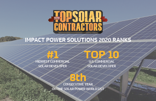 Impact Power Solutions Ranked top 10 Solar Developer in the US
