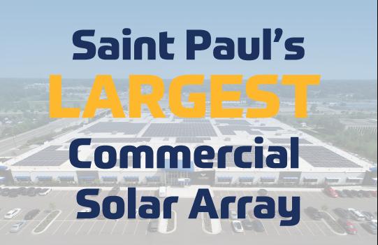 Meet St Paul's Largest Commercial Solar Array
