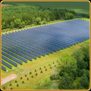 Image: 1.42 MW community solar garden in Long Lake, MN.