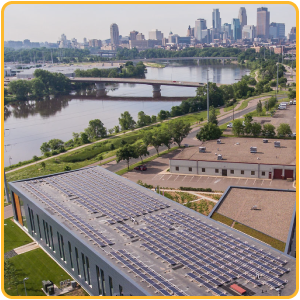 Image: 139 kW rooftop install for LifeSource in Minneapolis, MN