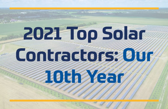 2021 Top Solar Contractors: Our 10th Year